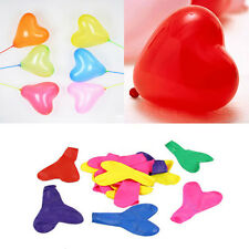 200pcs Colorful Heart Shaped Latex Balloons Wedding Birthday Party Decoration JG