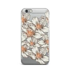 White Lily Flowers Floral TPU Rubber Silicone Clear Case Cover Back Apple iPhone