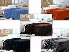 """Lina Queen Solid Reversible Super Soft Mink Blanket - Size: (78"""" x 90"""" Inch)"""