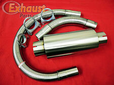 """57mm 2.25"""" T304 Stainless Generator Exhaust Kit Silencer Flexible Piping Clamps"""