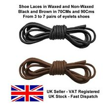 Pair of shoelaces Waxed cotton round shoe laces work shoe laces brogues oxford