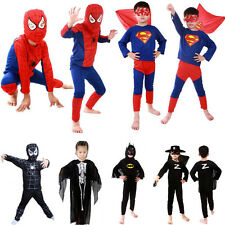 Kids Boys Halloween Cosplay Costume Suit Superhero Bodysuit Christmas Outfit Set