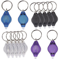 New Portable LED Micro Light Keychain Squeeze Key Ring Lamp Camping Outdoor