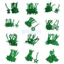 10x Vary Shape Felt Decorations Christmas Tree Hangers Ornaments Green Snowflake