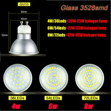 Gu10 socket Spotlight 3528 SMD Cool/Warm/White Led Bulb 4/6/8W Light 220V110V
