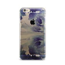 Purple Wave Ocean Marble TPU Rubber Silicone Clear Case Cover Back Apple iPhone