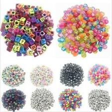 100PCS Loose Random Alphabet Making Beads DIY Letter Acrylic Cube Spacer Jewelry
