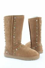 New Style & Co Bolted Slip ON Studded Suede Mid Calf Boots MULTIPLE COLORS