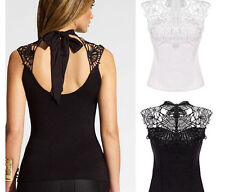 Summer Sexy Women Lady Girls Lace Clothes Backless Waistcoat Vest Tops T-shirt