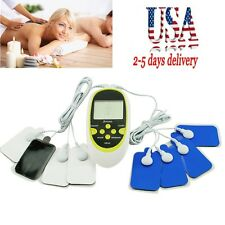 USA Local!!! Digital Therapy Machine Pulse Full Body Acupuncture Massager 8 Pads