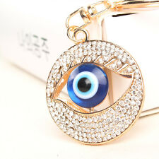 Blue Eye Creative Charm Lovely Pendent Crystal Purse Bag Keyring Key Chain Gift