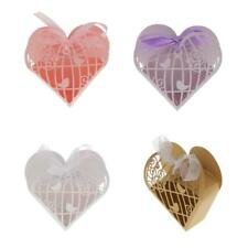 20pcs Love Heart Candy Paper Gift Box Hollow Out Wedding Party Favor
