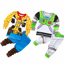 Kids Boys Disney Toy Story Fancy Dress Buzz Costume Outfit Sweatshirt+Sweatpants