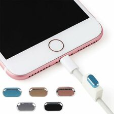 NEW Metal Skin PC  Charger Dock Anti-Dust Plug Stopper Cap for iPhone 7 / 7 Plus