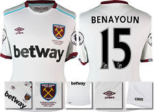*16 / 17 - UMBRO ; WEST HAM UTD AWAY SHIRT SS + PATCHES / BENAYOUN 15 = SIZE*