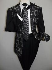 Men Casual Blazer Ribbed Fabric INSERCH Patch Pockets,Elbow 5062,01 black white