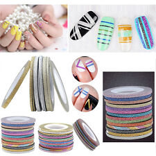 NEW Beauty 14colors Rolls Striping Tape Line DIY Nail Art Tip Decoration Sticker