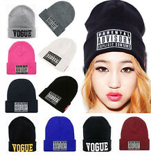 New Women's Men's Unisex Warm Winter Knit Hat cap Hip-hop Beanie Hats