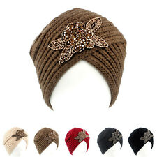 Lady Women's Beret Braided Baggy Beanie Crochet Warm Winter Hat Ski Cap Wool Hat