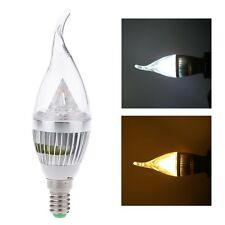 AC85-265V E14 6W LED High Power Candle Light Bulb Chandelier Lamp Spotlight