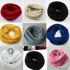 Women Winter Soft  Warm Infinity Cable Knit Cowl Neck Long Scarf Shawl Charm