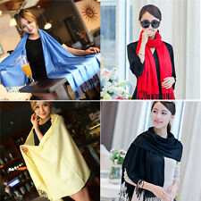 Women Winter Warm Scarf Cashmere Silk Long Pashmina Large Shawl Wrap New