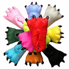 Adult Cartoon Animal Cosplay Costume Slippers Claw Paw Shoes indoor Flurry Warm