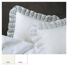 Ruffled Lauren Eyelet Cotton Blend Euro Sham Machine Washable - FREE SHIPPING