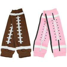 Fashion Baby Toddler Kid Leggings Socks Tights Arm Leg Warmers (Pink/Brown)