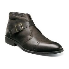 New Stacy Adams Rawley Cap Toe Monk Strap Boot Brown soft Leather 25062-200