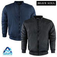 Mens Long Sleeve Padded Jacket by Brave Soul Harrington Zip Up Casual S-XL