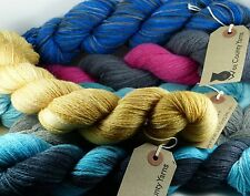 Wee County Yarns Hand Dyed Shetland 2ply laceweight 50g VARIOUS SHADES pure wool