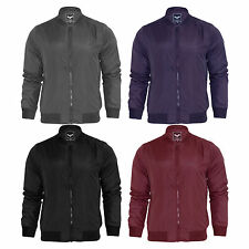 Mens Harrington Jacket Brave Soul MA1 Summer Lightweight Bomber Coat