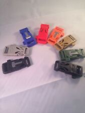 Fire Starter Whistle Buckle for Paracord Bracelet