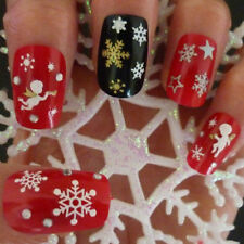 Snowflakes Snowman 3D Nail Art Stickers Decals Fingernail Accessories Affordable