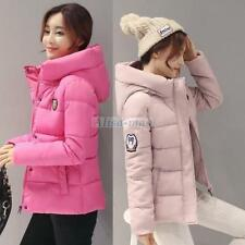 Women's jacket warm winter parka short coat Fashion hooded down Candy color New