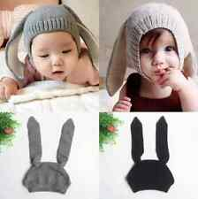 Toddler Girls Boys Soft Crochet Earflap Beanie Hat Newborn Baby Kids Warm Cap