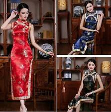 Traditional Chinese Silk Satin Women's Pary Dress Cheong-sam Show Clothing