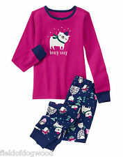 NWT Gymboree Girls Gymmies Beary COZY Pajamas PJs Christmas Holiday 2T,7