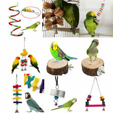 Swing Bird Toy Parrot Rope Harness Cage Toys Parakeet Cockatiel Budgie VARIOUS