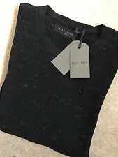 "ALL SAINTS INK BLUE ""ZELLERN"" CREW JUMPER SWEATSHIRT TOP - S M L - NEW TAGS"