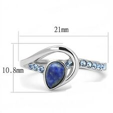 High Polish Synthetic Stone Stainless Steel Ring