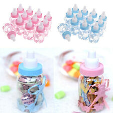 2Pcs Candy Bottles Box Girl Baby Shower Party Favors Baptism Christening Gifts