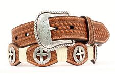 Nocona Scallop/Rawhide/Filigree Cross Belt