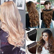 Real as remy human Hair Extensions Long Full Head Clip in on Hair Extension 1b11
