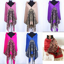 New Fashion Pashmina 100% Cashmere Womens Scarves Paisley Stole Shawl Wrap+Scarf