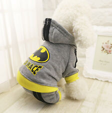Pet Dog Clothes Puppy Winter Coat Sweat Suit Hoodie Apparel Superman Batman