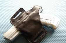 Glock 17,19,20,21,22,23,26,27,29,30,32,34,35 36 Belt Leather Holster LEFT Hand