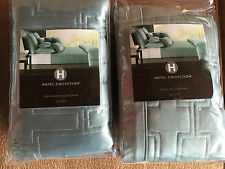 Hotel Collection Green Basic Stripe Collection Quilted Sham Euro / Standard NWT