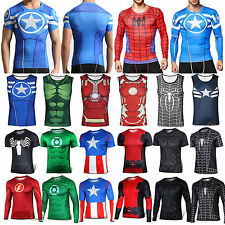MARVEL Superhero Batman T Shirts Cycling Sports Fitness Shirt Jerseys Gym Tops